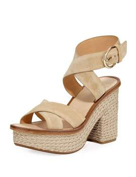 Tanglee Suede Platform Sandals by Joie