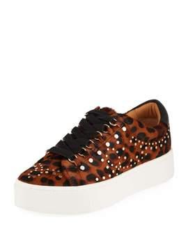 Handan Studded Leopard Print Platform Sneakers by Joie