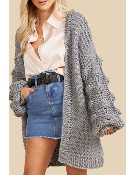 Premium Hand Knitted Chunky Cable Knit Cardigan by Boohoo