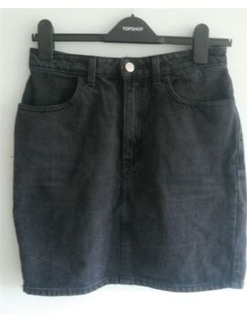 American Apparel Washed Black Denim Skirt M by Ebay Seller
