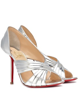 Drapa Notta 100 Leather Sandals by Christian Louboutin