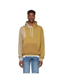 Tan Distorted Hoodie by John Elliott