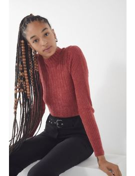 Uo Plush Chenille Mock Neck Sweater by Urban Outfitters