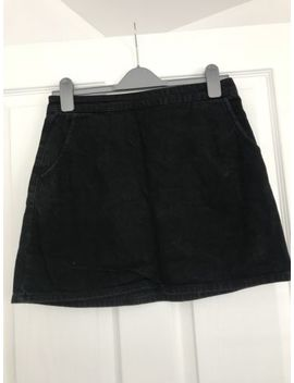 Womens Topshop Black Denim Skirt by Ebay Seller