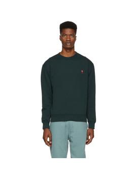 Green Ami De Coeur Sweatshirt by Ami Alexandre Mattiussi