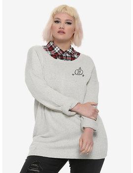 Supernatural Castiel Wings Girls Sweater Plus Size Hot Topic Exclusive by Hot Topic