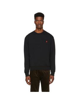 Black Ami De Coeur Sweatshirt by Ami Alexandre Mattiussi
