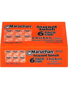 (4 Pack) Maruchan® Instant Lunch™ Chicken Flavor Ramen Noodle Soup 6 2.25 Oz. Box by Maruchan