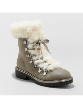 Women's Neveah Faux Fur Lace Up  Boots   A New Day™ by A New Day™