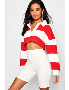 Top à Rayures Court Rugby Petite by Boohoo
