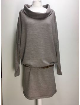 Emu Australia Yarra Glen Taupe Beige Grey Merino Wool Cowl Neck Sweater Dress M by Ebay Seller