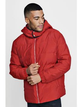 Quilted Jacket With Oversized Hood by Boohoo