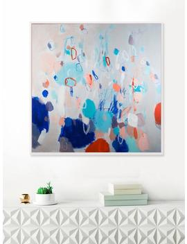 Large Canvas Wall Art, Bedroom Wall Decor, Blue Wall Art, Abstract Geometric Painting By Camilo Mattis by Etsy