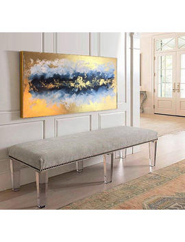"55"" Abstract Painting, Oil Painting, Handmade, Canvas, Gold, Original Painting, Acrylic Painting, Wall Art, Wall Decor, Gift For Her by Etsy"