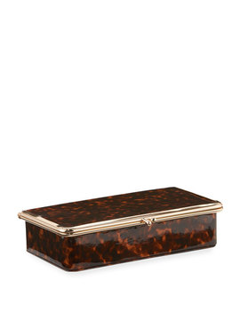 Framed Leather Jewelry Box by Neiman Marcus