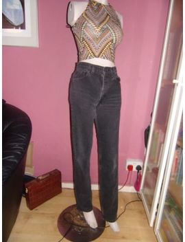 Levis 505 90s Vintage Mom/Boyfriend Fit High Waisted Black Denim Jeans Sz 10 W30 by Ebay Seller