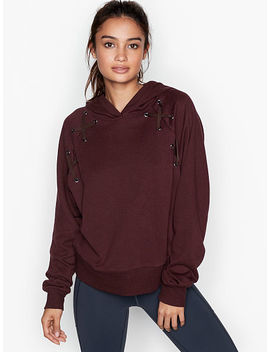 Lace Up Hoodie by Victoria's Secret