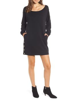 Snap Sweatshirt Dress by Hudson Jeans