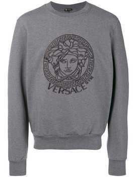 Sweatshirt Mit Aufgesticktem Logo by Versace