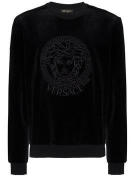 Sweatshirt Aus Samt by Versace