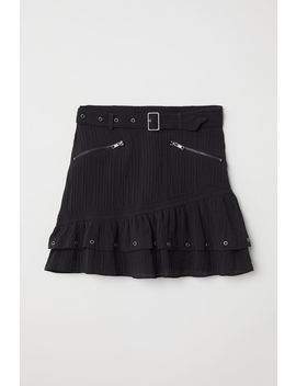 Crinkled Skirt With Belt by H&M