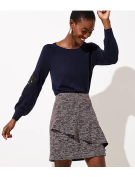 Spacedye Ruffle Skirt by Loft