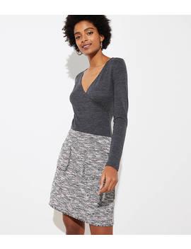 Boucle Pocket Shift Skirt by Loft