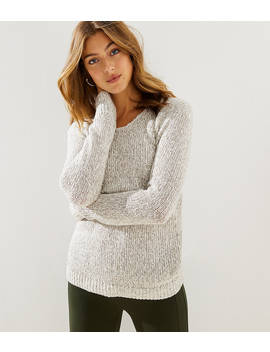 Marled V Neck Sweater by Loft