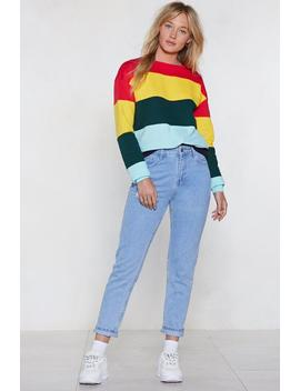 Bright On Time Colorblock Sweater by Nasty Gal