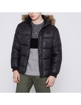 Jack & Jones Core Black Puffer Jacket by River Island