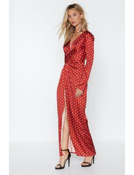 Got Me Twisted Polka Dot Dress by Nasty Gal