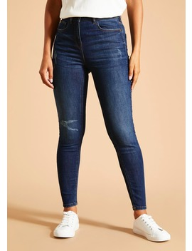Falmer Distressed Skinny Jeans by Matalan