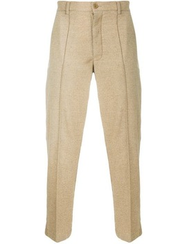 Straight Leg Trousers With Raised Seam Detail by Ymc