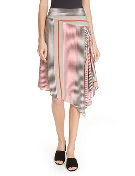 Moni Asymmetrical Stripe Skirt by Joie