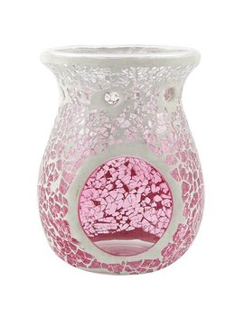Yankee Candle Pink Fade Wax Burner, Glass, Pink by Yankee Candle