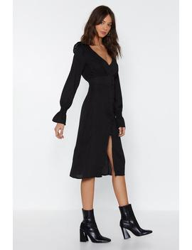 Button Down With Something Midi Dress by Nasty Gal