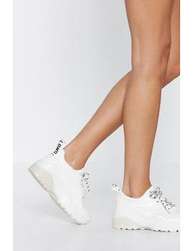 Run With It Chunky Sneaker by Nasty Gal