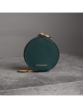Small Round Leather Coin Case by Burberry