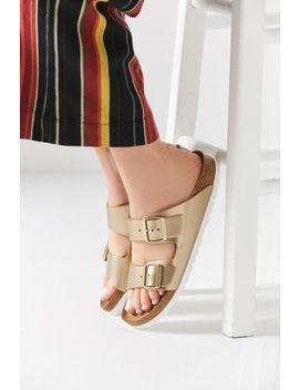 Birkenstock Arizona Soft Footbed Metallic Slide Sandal by Birkenstock