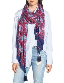 Persian Rose Oblong Scarf by Rebecca Minkoff