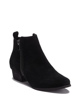 Lila Waterproof Suede Ankle Bootie by Blondo