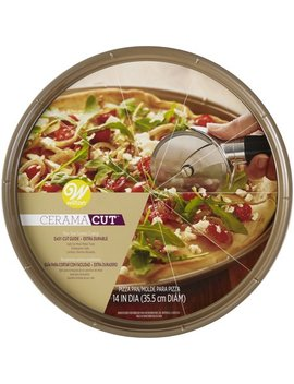 Wilton Cerama Cut Non Stick Pizza Pan, Ceramic Coated Bakeware 14in by Wilton