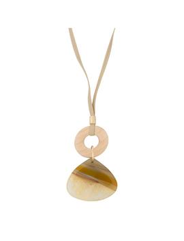 Lenten Wood & Stone Pendant Necklace by Olivar Bonas
