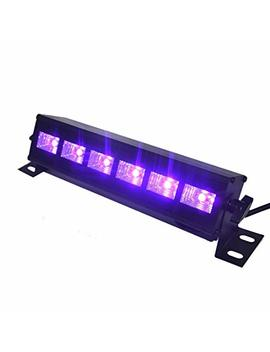 Uv Led Bar, Indmird Black Lights With 3 W X 6 Le Ds Uv Bar For Parties Halloween Club Metal Housing by Ind Mird