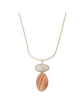 Ciana Bar & Drop Pendant Necklace by Olivar Bonas