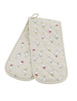 Ducks Double Oven Glove by Dunelm