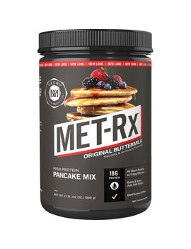 Met Rx High Protein Pancake Powder, Original Buttermilk 18g Protein, 2 Lb by Met Rx