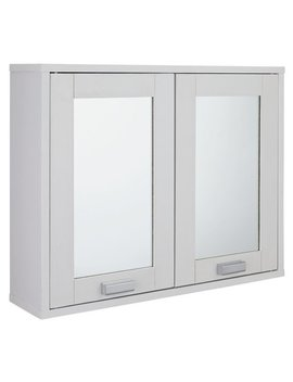 Argos Home Prime 2 Door Mirrored Cabinet   White by Argos