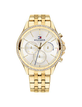 Tommy Hilfiger Women's Ari Chronograph Crystal Bracelet Strap Watch, Gold/White 1781977 by Tommy Hilfiger