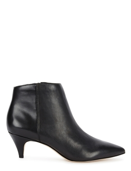 Kinzey Black Leather Ankle Boots by Sam Edelman